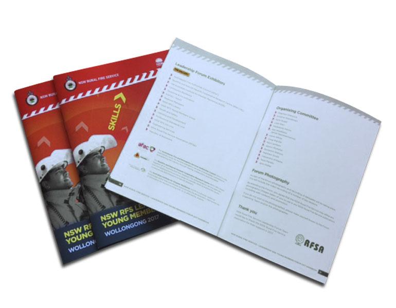 A5 open brochure