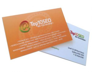 Recycled Matte White Business card printing, eco environmentally friendly business card
