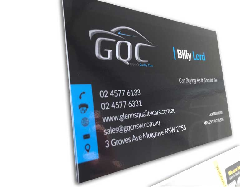 car-business-cards-close-up