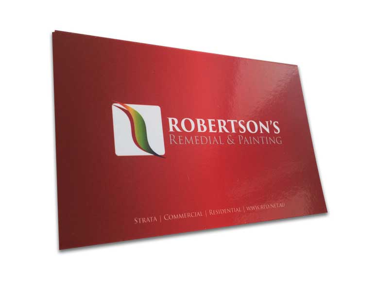 red business cards front