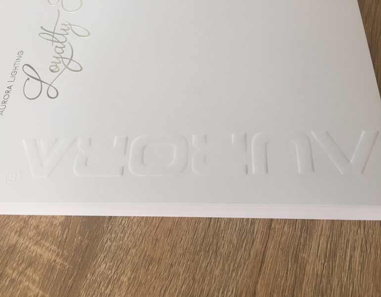 embossed letterheads with silver foil 157gsm laser