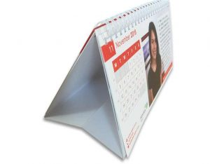 Desktop flip calender printed full colour 2 sides. Personlised Desktop Calendar Printing, Twin Loop wirebound.
