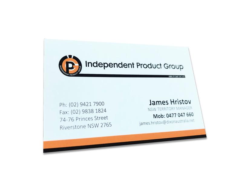 orange and black business cards