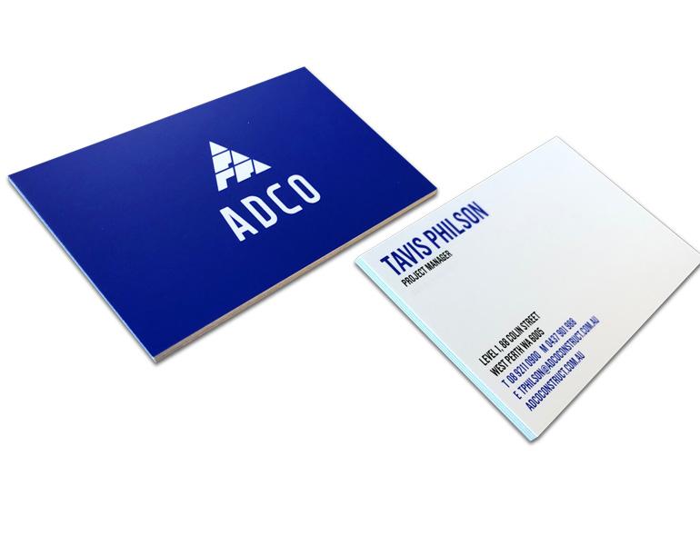 PMS2728C business card