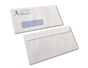 Window Face DL Envelope Front Back