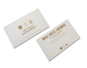 recruitment company business cards